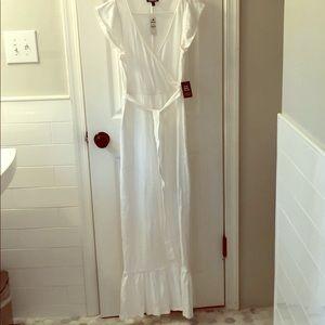 Express white maxi dress